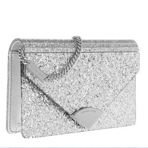Michael Kors Barbara Envelope Clutch - silver